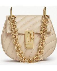 Chloé - Ladies Pearl Beige Drew Bijou Mini Quilted Leather Shoulder Bag - Lyst
