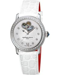 Frederique Constant - Fc310whf2pd6 Double Heart Beat Stainless Steel - Lyst