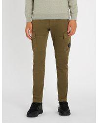 C P Company - Cargo Ergonomic-fit Cotton Trousers - Lyst