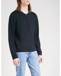 Sandro - Striped-trims Wool Cardigan - Lyst