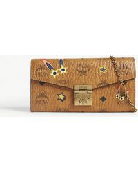 MCM - Millie Bunny Visetos Coated Canvas Wallet-on-chain - Lyst