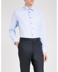 Eton of Sweden - Herringbone-weave Contemporary-fit Cotton Shirt - Lyst