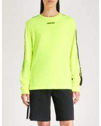 Wasted Paris - Neon Cotton-jersey Sweatshirt - Lyst