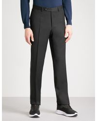 Canali - Regular-fit Wool Trousers - Lyst