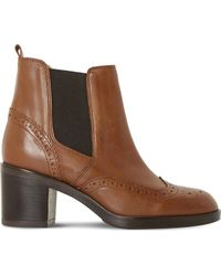 Dune Black - Parke Leather Heeled Chelsea Boots - Lyst