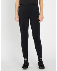 Calvin Klein - Performance Knitted Stretch-jersey Leggings - Lyst