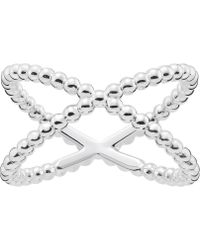 Thomas Sabo - Criss-cross Dot Sterling Silver Ring - Lyst