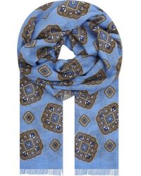 Eton of Sweden - Medallion Print Cotton-modal Scarf - Lyst