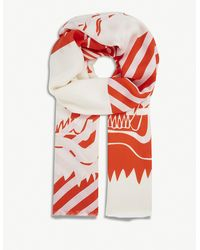 KENZO - Double Tiger Print Scarf - Lyst