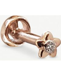 The Alkemistry - Kismet By Milka 14ct Rose-gold And Diamond Daisy Earring - Lyst