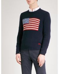 Ralph Lauren Purple Label - Flag Cashmere Jumper - Lyst