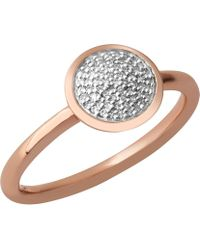 Links of London - Diamond Essentials 18ct Rose-gold Vermeil And Diamond Ring - Lyst