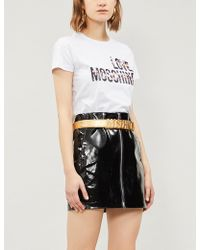 Love Moschino - Cheerleader Logo-print Cotton-jersey T-shirt - Lyst