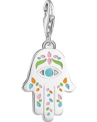 Thomas Sabo - Mexican Hand Of Fatima And Nazar's Eye Sterling Silver Charm - Lyst