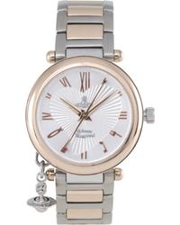 Vivienne Westwood - Orb Rose Gold And Silver Ladies' Watch - Lyst