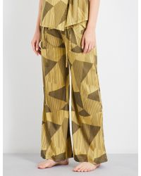 Aimee Kestenberg - Striped Jacquard Silk-blend Pyjama Trousers - Lyst
