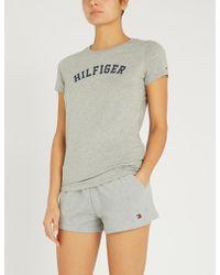 Tommy Hilfiger - Logo-print Organic Cotton T-shirt - Lyst
