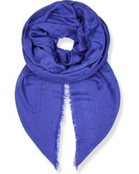 Beatrice Jenkins - Signature Bee Wool And Silk-blend Scarf - Lyst