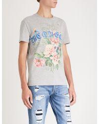 Alexander McQueen - Goth-print Cotton-jersey T-shirt - Lyst