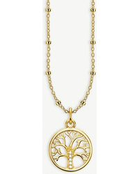 Thomas Sabo - Tree Of Love 18ct Yellow Gold-plated Necklace - Lyst