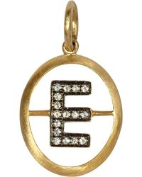 Annoushka - 18ct Yellow Gold And Diamond E Pendant - Lyst