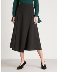 Theory - Flounce Stretch-cotton Skirt - Lyst