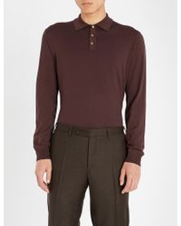 Slowear - Long-sleeved Wool-blend Polo Shirt - Lyst