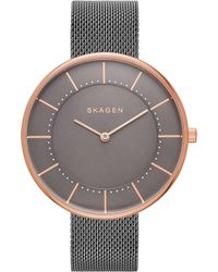 Skagen - Skw2584 Gitte Rose Gold-plated Stainless Steel Watch - Lyst