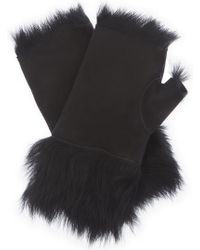 Karl Donoghue - Leather Fingerless Gloves - Lyst