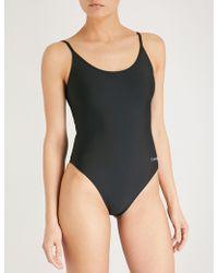 Calvin Klein - Cheeky Logo-print Swimsuit - Lyst