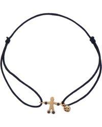 The Alkemistry - Kismet By Milka 14ct Rose Gold And Sapphire Cord Boy Bracelet - Lyst