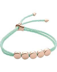 Monica Vinader - Linear Bead 18ct Rose-gold Plated Friendship Bracelet - Lyst