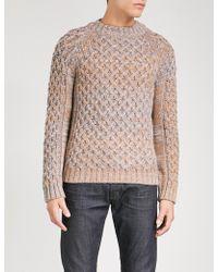 BOSS Black - Chunky-knit Wool Sweater - Lyst