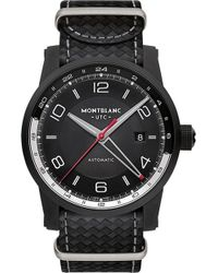 Montblanc | 113828 Timewalker Urban Speed E-strap Leather And Stainless Steel Watch | Lyst