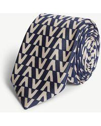 Valentino - V Logo Silk Tie - Lyst