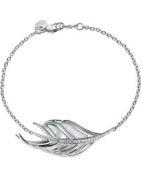 Shaun Leane | White Feather Diamond And Mother Of Pearl Bracelet | Lyst