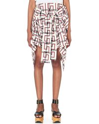 Vivienne Westwood Anglomania - Hope Checked Stretch-cotton Skirt - Lyst