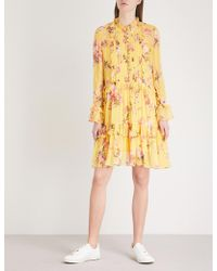 The Kooples - Floral-print Silk-chiffon Dress - Lyst