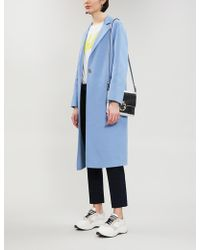 Sandro - Brushed-wool Blend Coat - Lyst