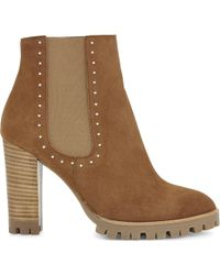 The Kooples | Anne Suede Heeled Ankle Boots | Lyst