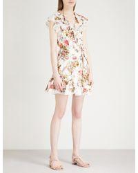 Needle & Thread - Rainbow Rose Crepe Mini Dress - Lyst