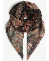 The Kooples - Paisley Silk Scarf - Lyst