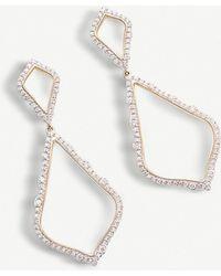 Kendra Scott Alexa 14ct Yellow-gold And Diamond Earrings - Metallic