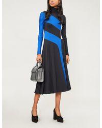 Sportmax - Pepe Colour-block Stretch-knit Dress - Lyst