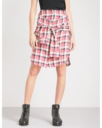 DIESEL | O-planet High-rise Brushed Cotton Skirt | Lyst