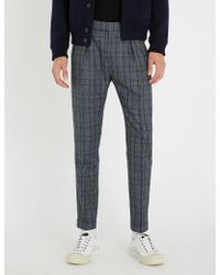 Paul Smith - Checked Regular-fit Mid-rise Wool Trousers - Lyst