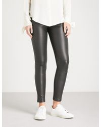 Theory - Adbelle Skinny Leather Trousers - Lyst