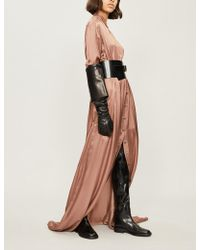 Ann Demeulemeester - Button-up Satin Maxi Dress - Lyst