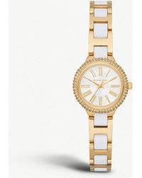Michael Kors - Mk6581 Taryn Yellow-gold Plated Stainless Steel And Pavé Watch - Lyst