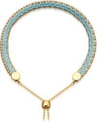 Astley Clarke - Kula Biography 18ct Yellow-gold Vermeil Duck Egg Bracelet - Lyst